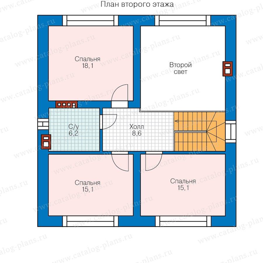План 2-этажа проекта 58-15AK