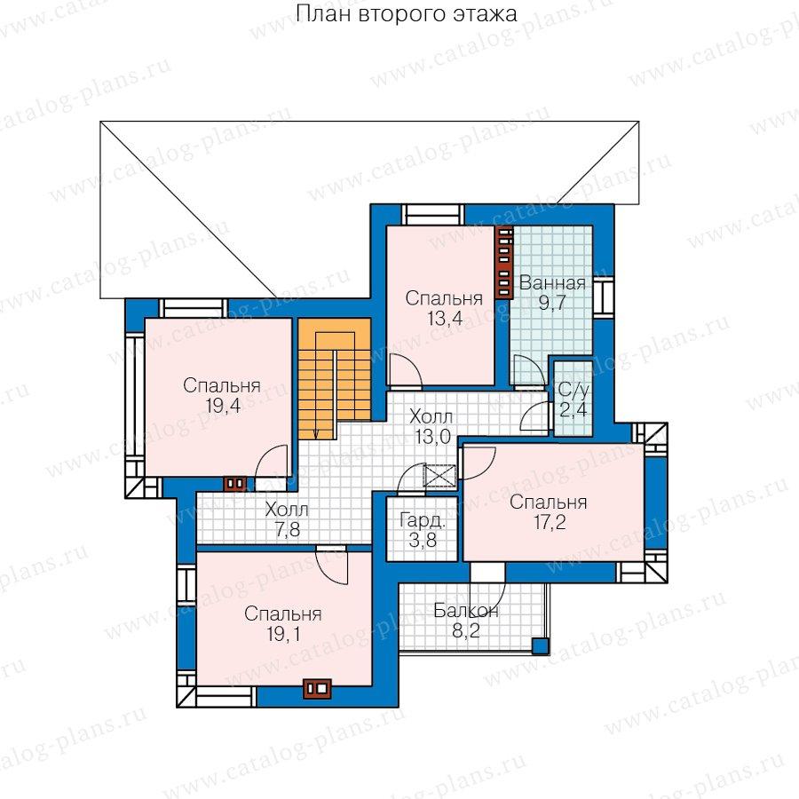 План 2-этажа проекта 57-21AKL1