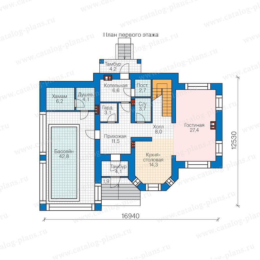 План 1-этажа проекта 57-25KHL