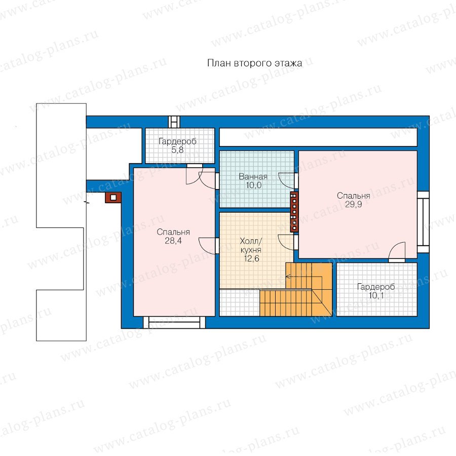План 2-этажа проекта 90-44