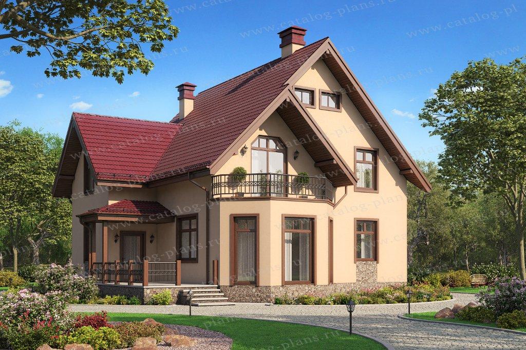 Проект жилой дом #40-05DG материал - газобетон, стиль немецкий