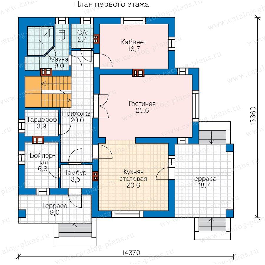 План 1-этажа проекта 62-20