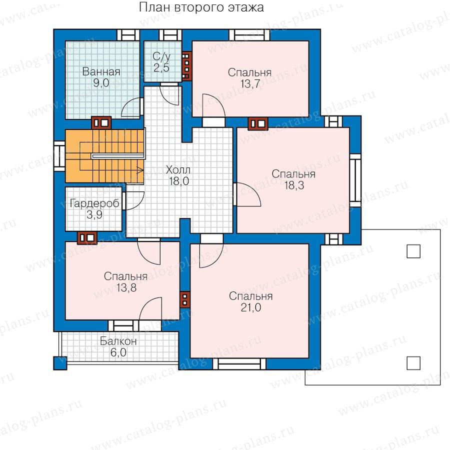 План 2-этажа проекта 62-20