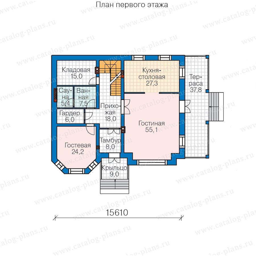 План 2-этажа проекта 40-38AL