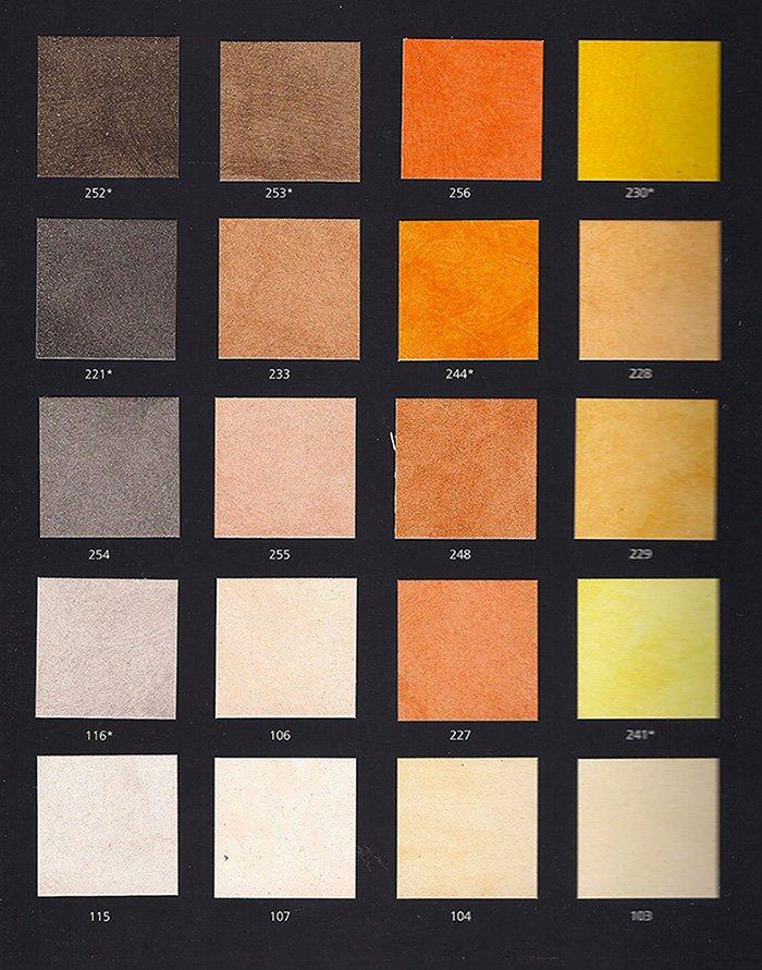 Карта цветов отделки фасада коттеджа
