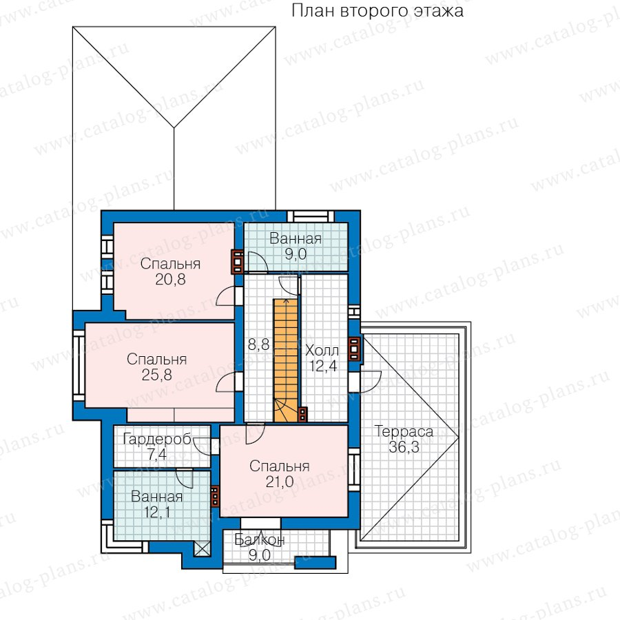 План 2-этажа проекта 45-15