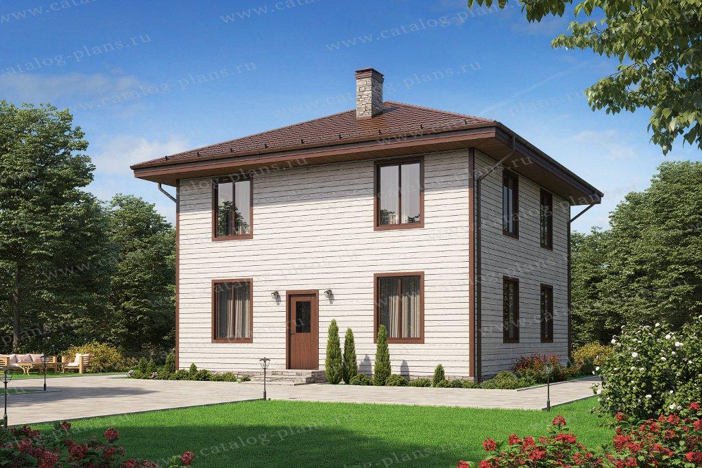 Проект жилой дом #40-04АКедрал материал - газобетон, стиль европейский