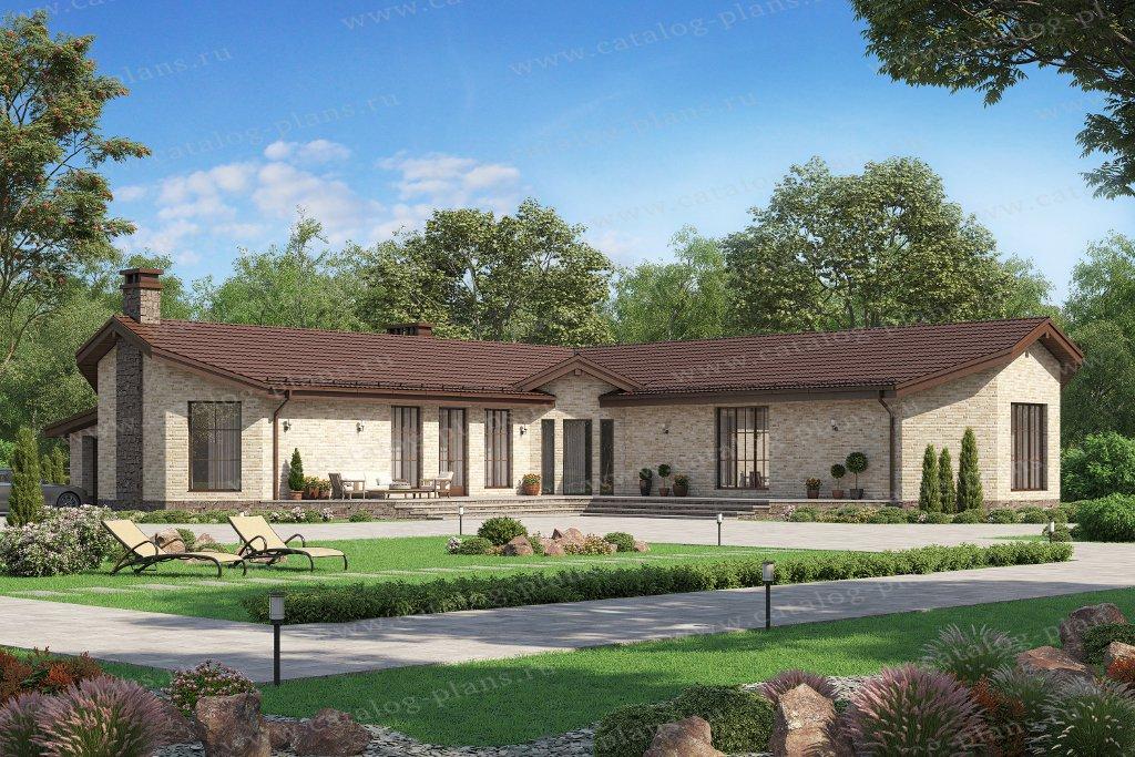 Проект жилой дом #58-50AL материал - газобетон, стиль