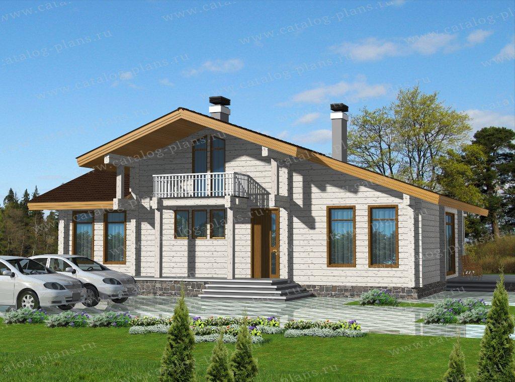 Проект жилой дом #13-84 материал - дерево, стиль