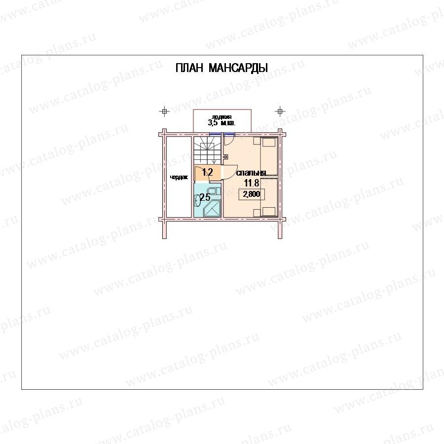 План 2-этажа проекта 13-84