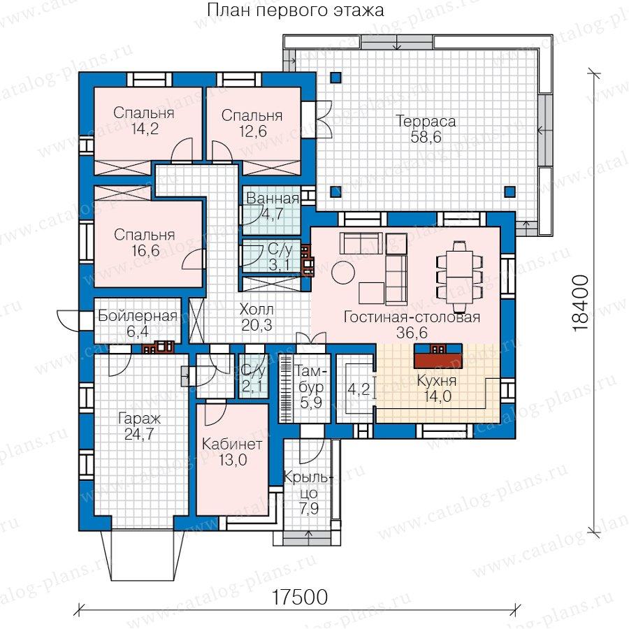 План 1-этажа проекта 62-30L