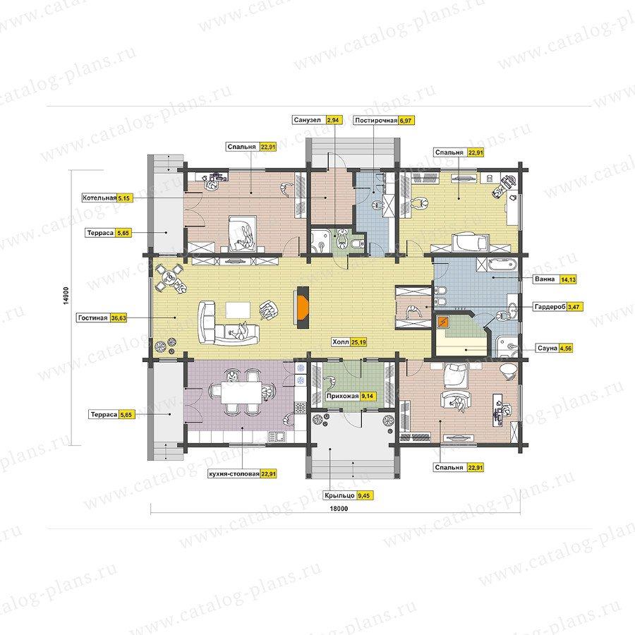 План 1-этажа проекта 13-86