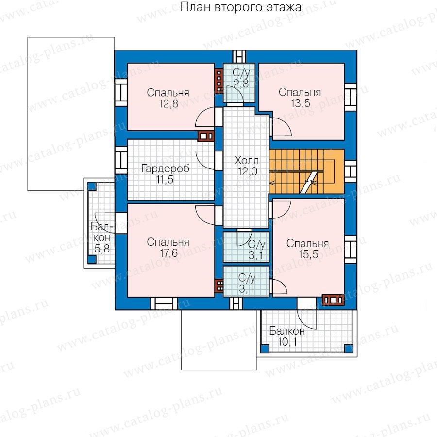 План 2-этажа проекта 57-46BL