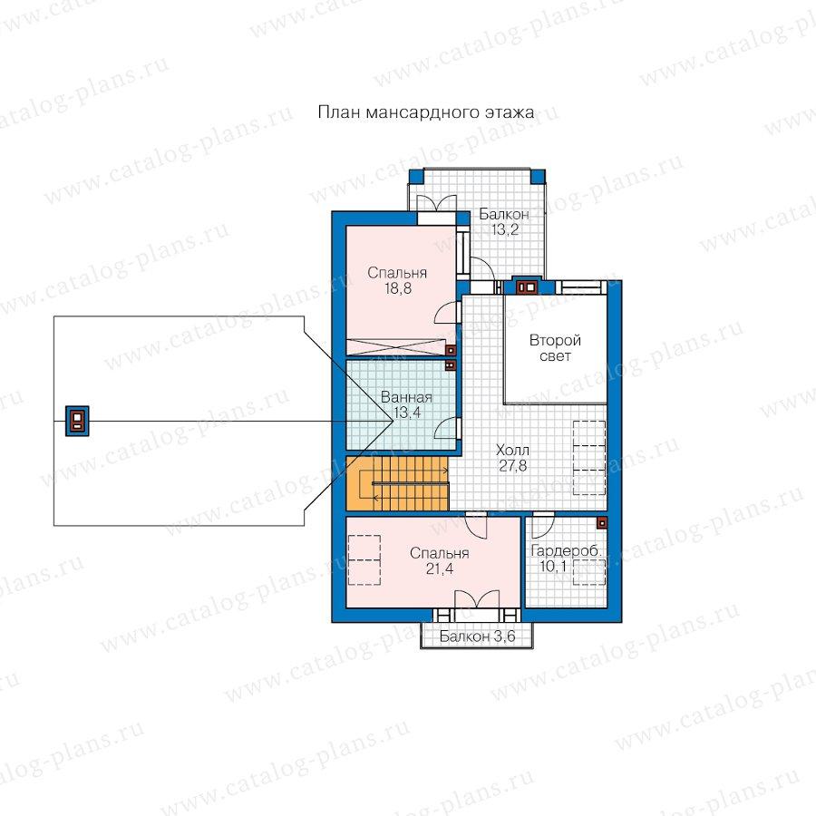 План 2-этажа проекта 45-21