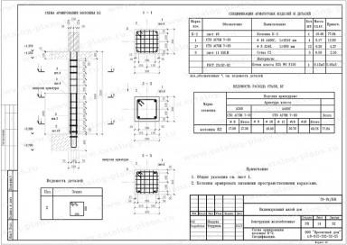 Схема армированной колонны-2