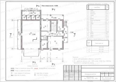 Маркировочный план первого этажа