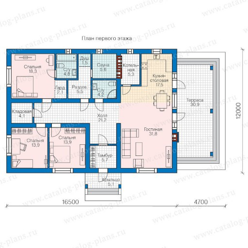 Готовые одноэтажные дома с гаражом и баней купить ролеты на гараж в спб