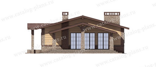 Чертеж фасада дома в проекте