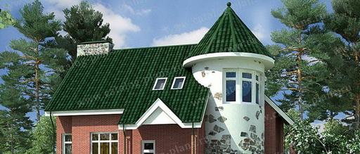 Проекты домов с башнями