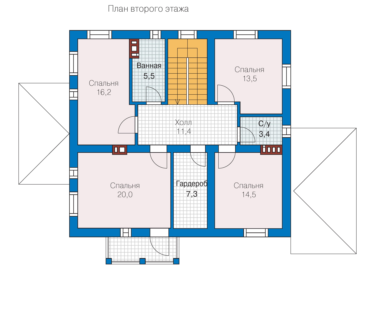 План 2-этажа проекта 34-00