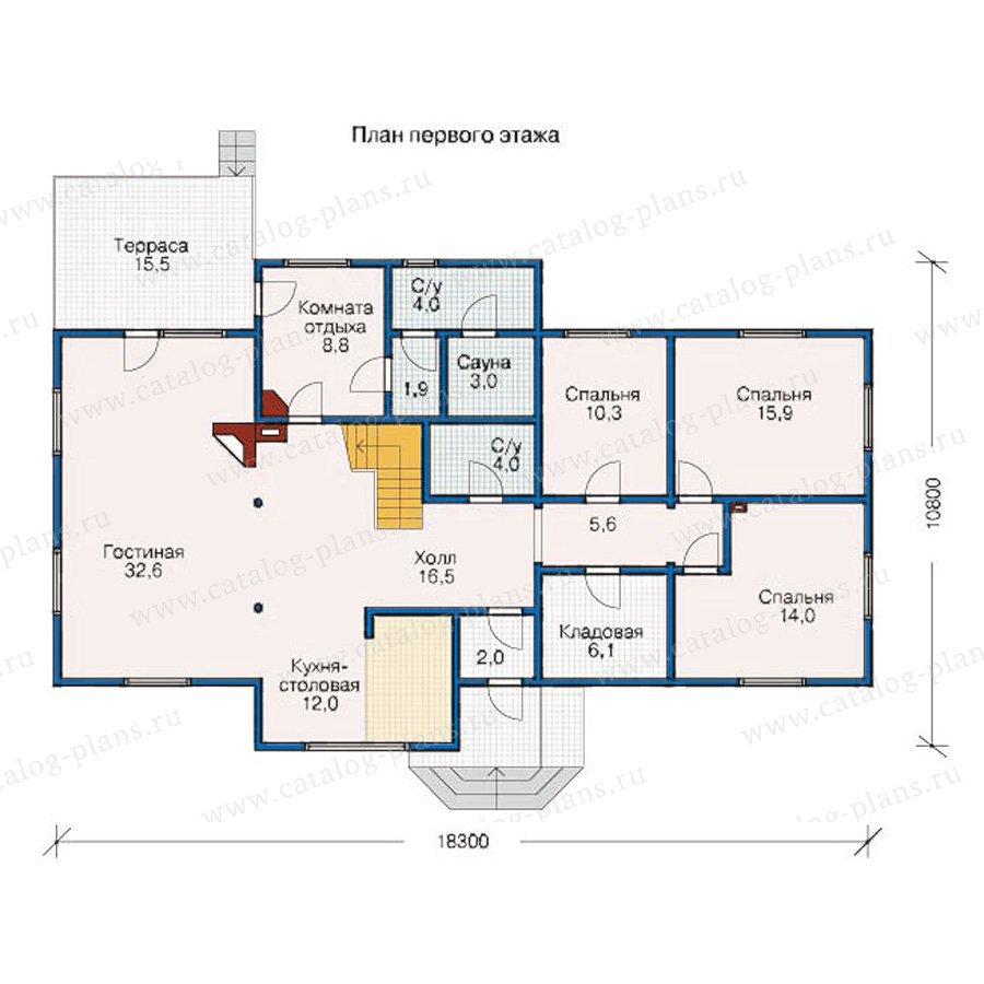 План 1-этажа проекта 10-11