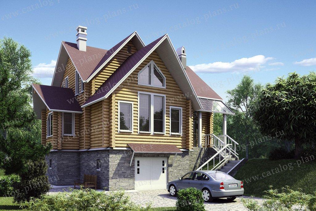Проект жилой дом #10-30 материал - дерево, стиль норвежский
