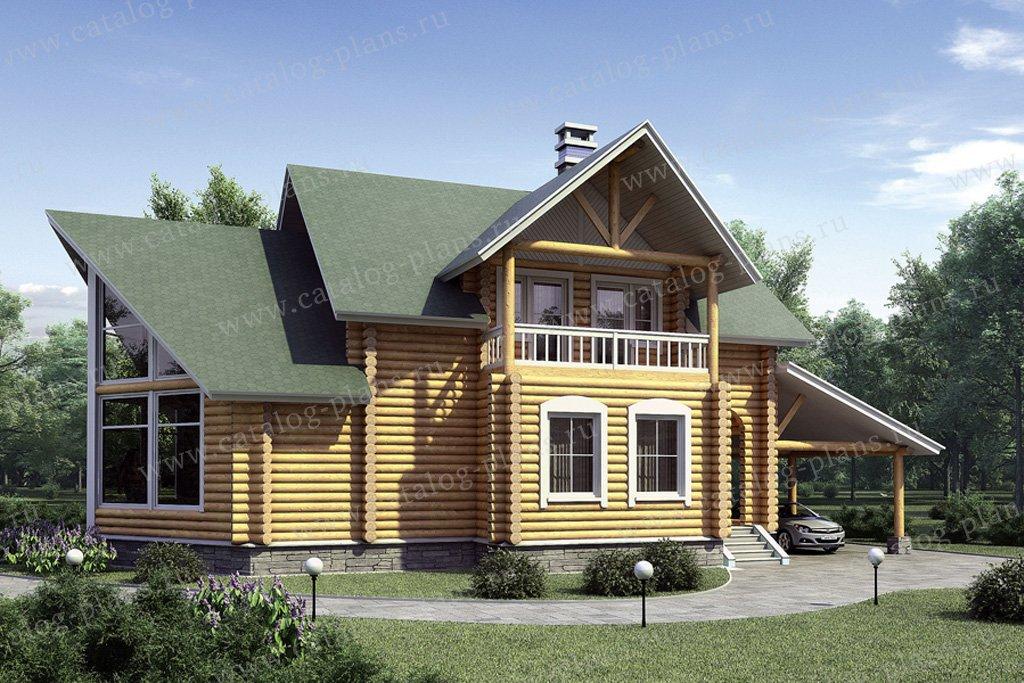 Проект жилой дом #10-26 материал - дерево, стиль скандинавский
