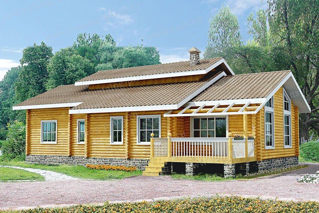 Проект жилой дом #10-11 материал - дерево, стиль шведский