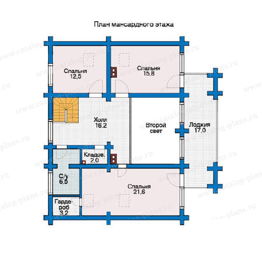 План 2-этажа проекта 10-09