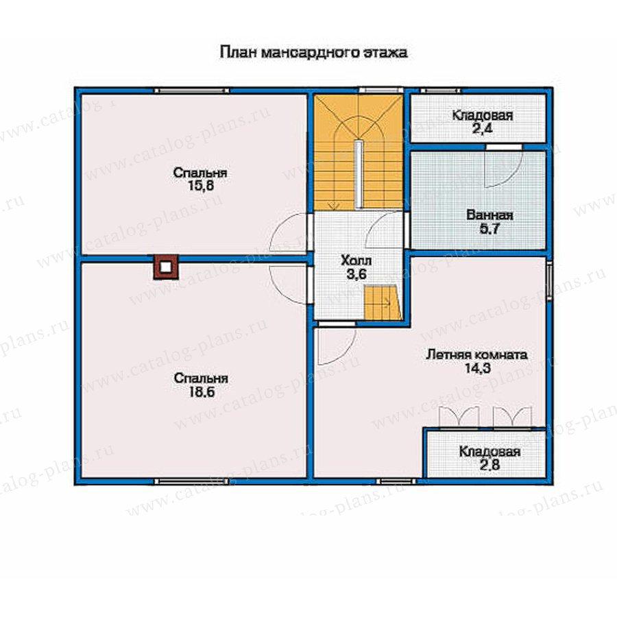 План 2-этажа проекта 10-27