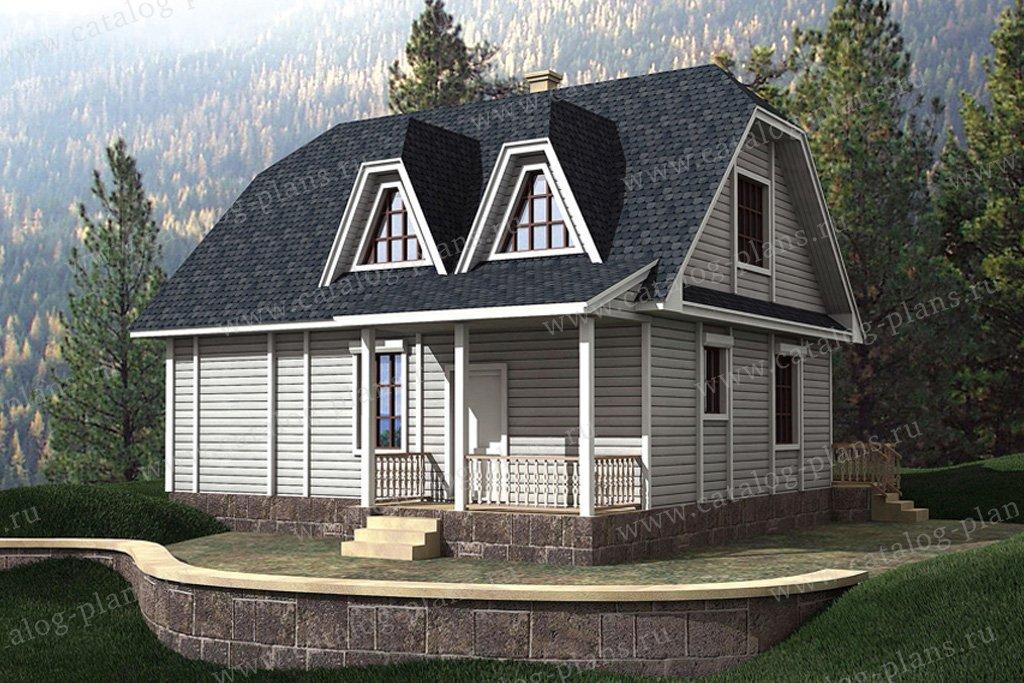 Проект жилой дом #10-24 материал - дерево, стиль европейский