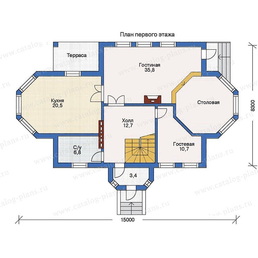 План 1-этажа проекта 10-20