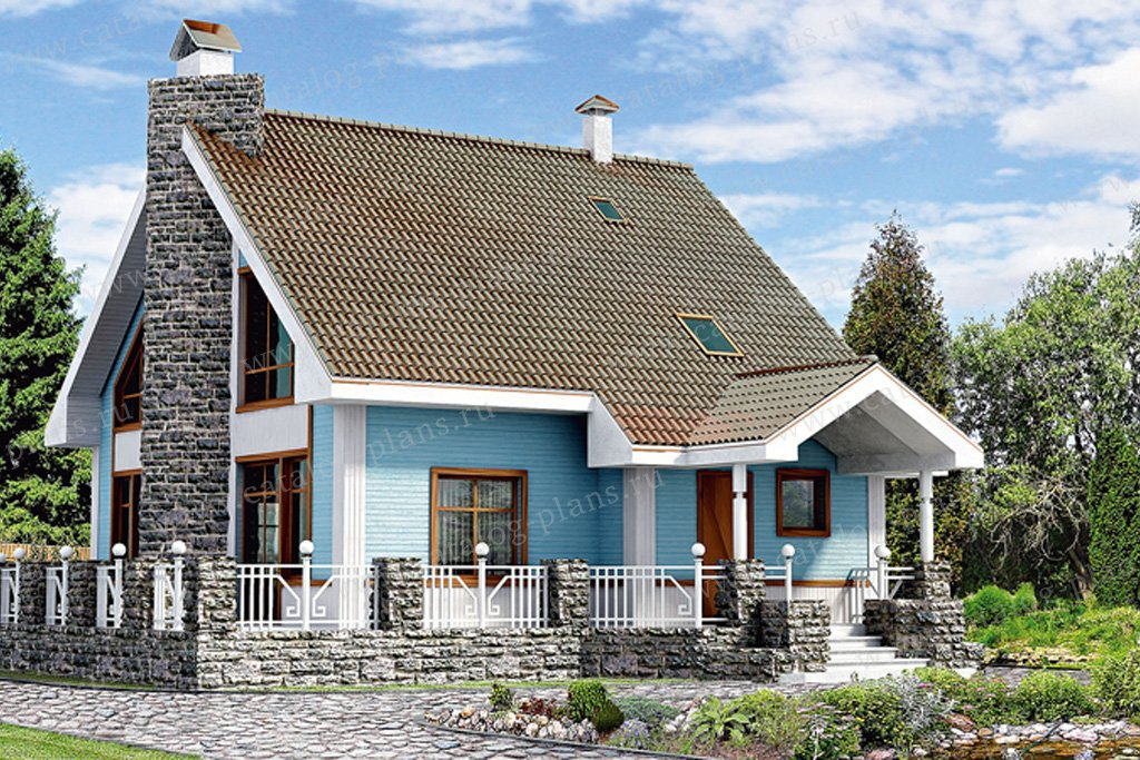 Проект жилой дом #10-28 материал - дерево, стиль норвежский