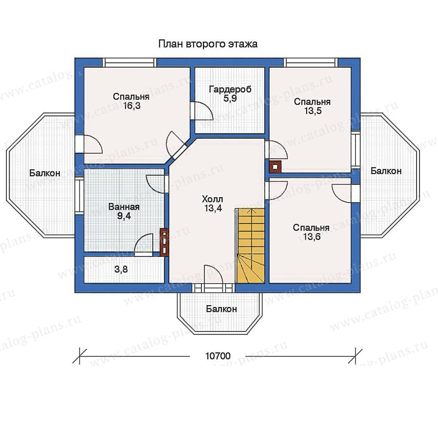 План 2-этажа проекта 10-20