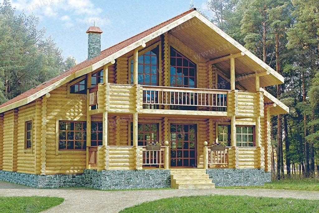 Проект жилой дом #10-09 материал - дерево, стиль скандинавский