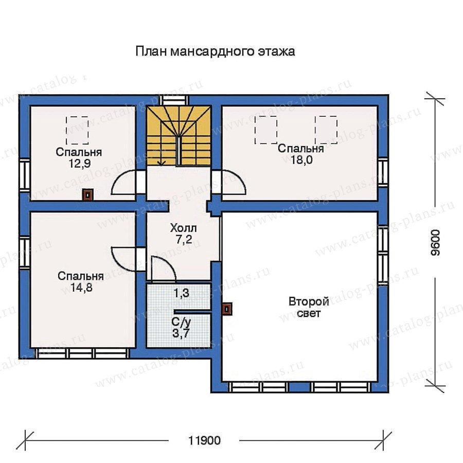 План 3-этажа проекта 10-23