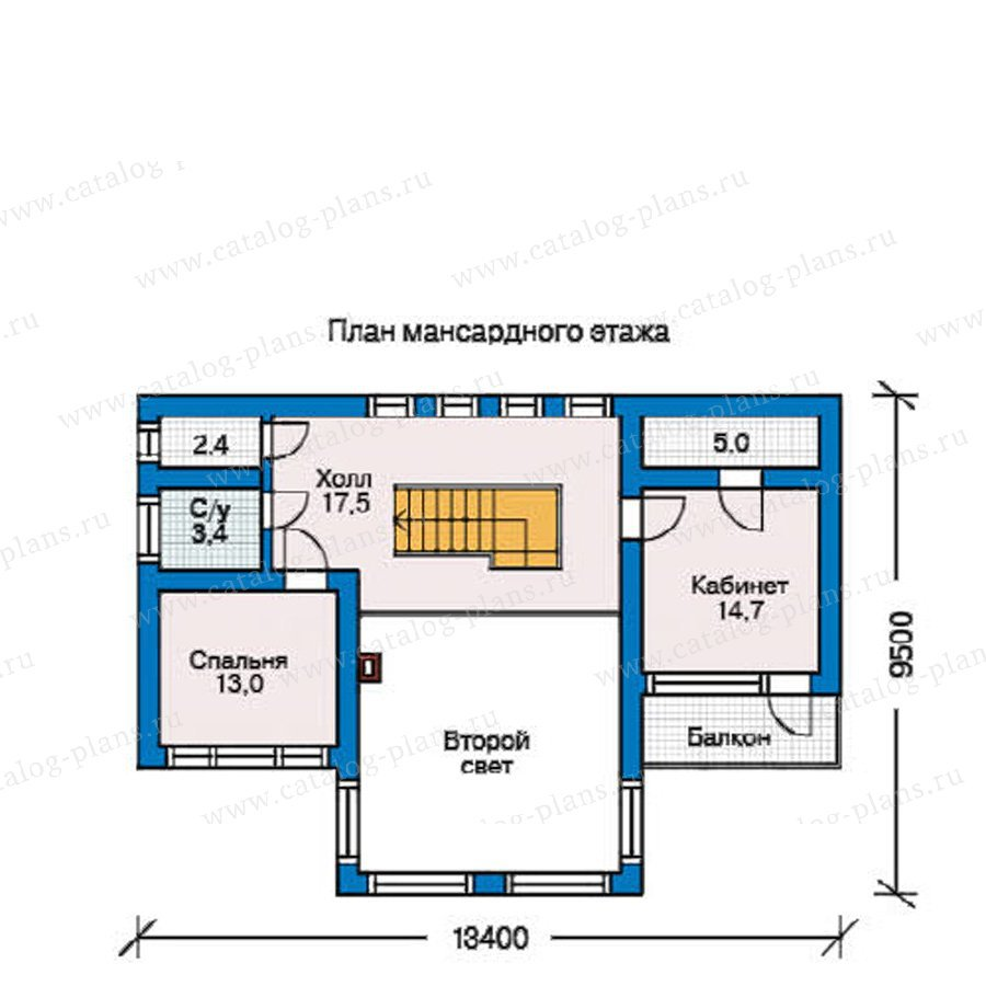 План 2-этажа проекта 10-08