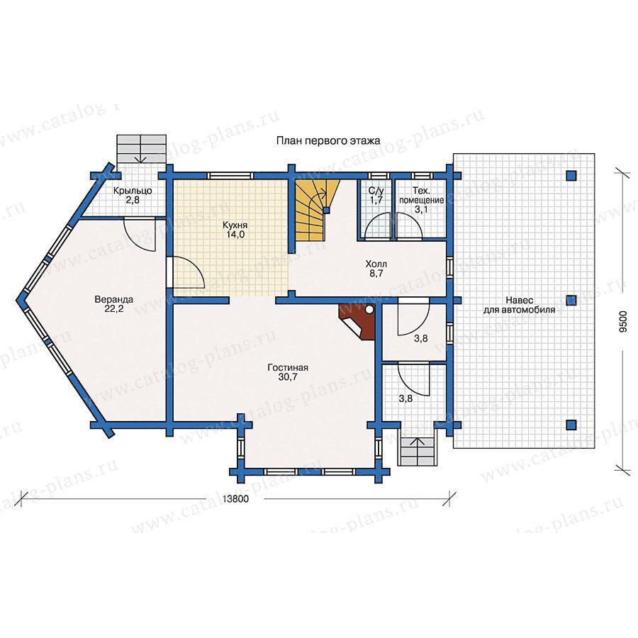 План 1-этажа проекта 10-26