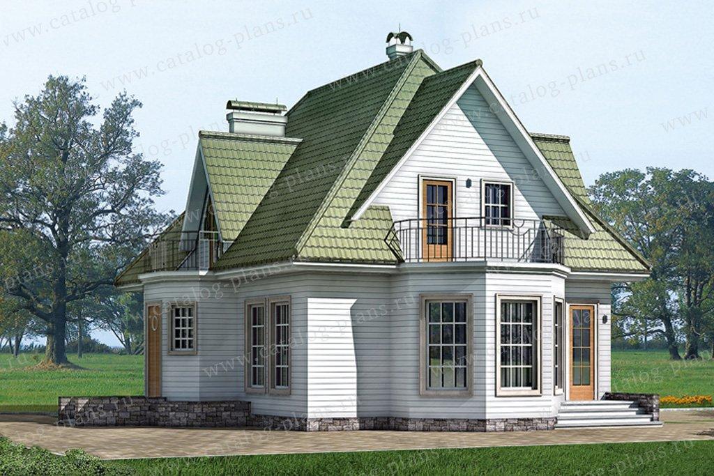 Проект жилой дом #10-20 материал - дерево, стиль русская усадьба
