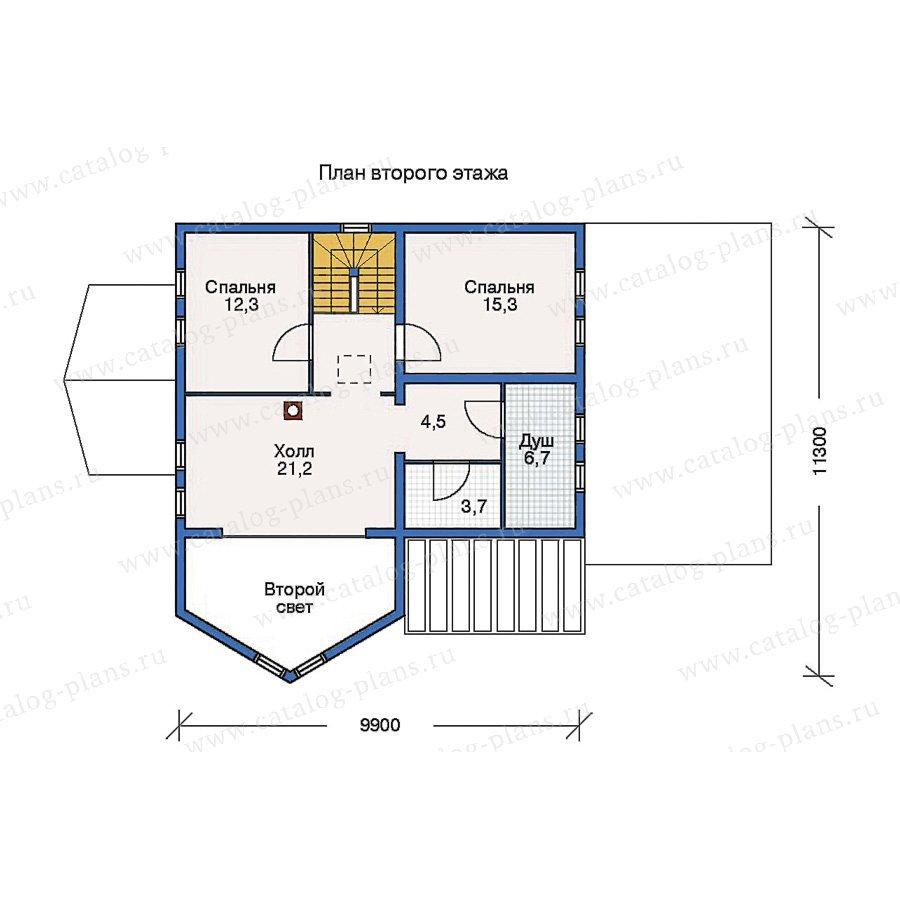 План 2-этажа проекта 10-25