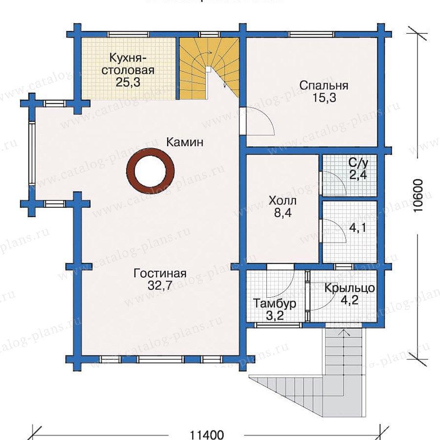 План 2-этажа проекта 10-30