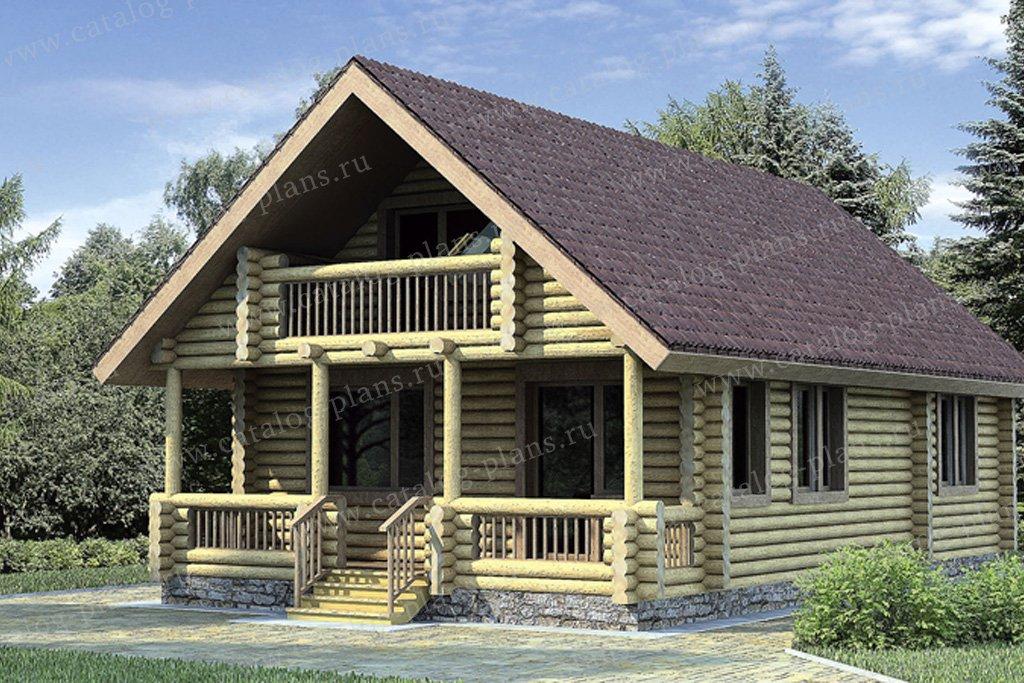 Проект жилой дом #10-19 материал - дерево, стиль скандинавский