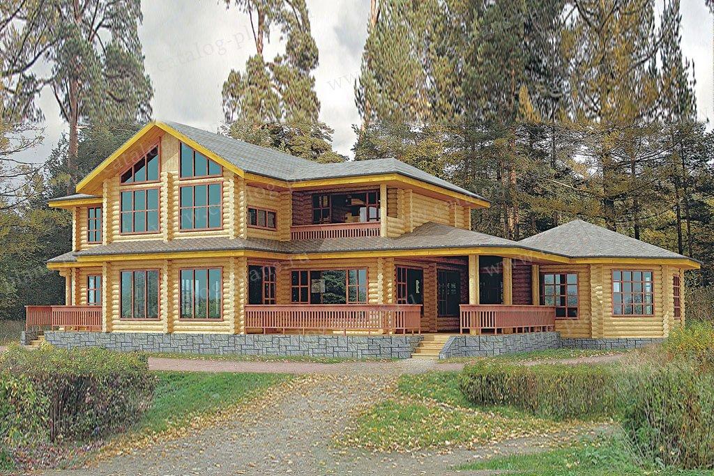 Проект жилой дом #10-08 материал - дерево, стиль скандинавский