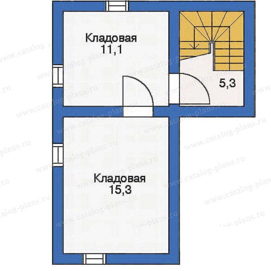 План 1-этажа проекта 10-23