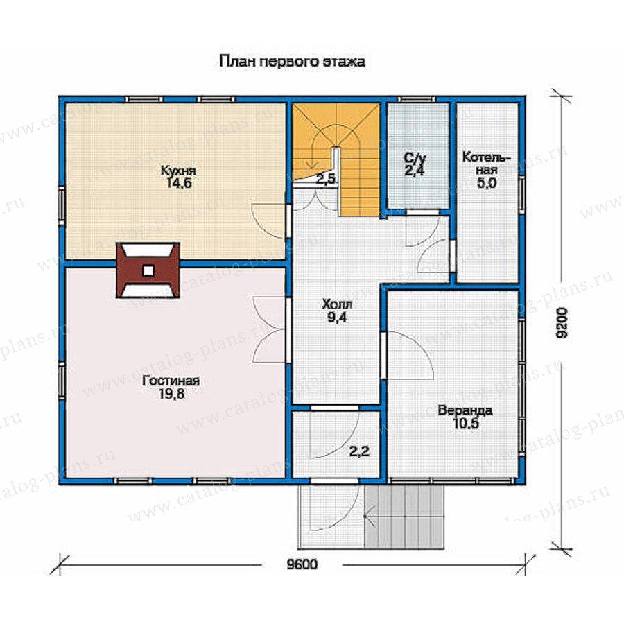 План 1-этажа проекта 10-27