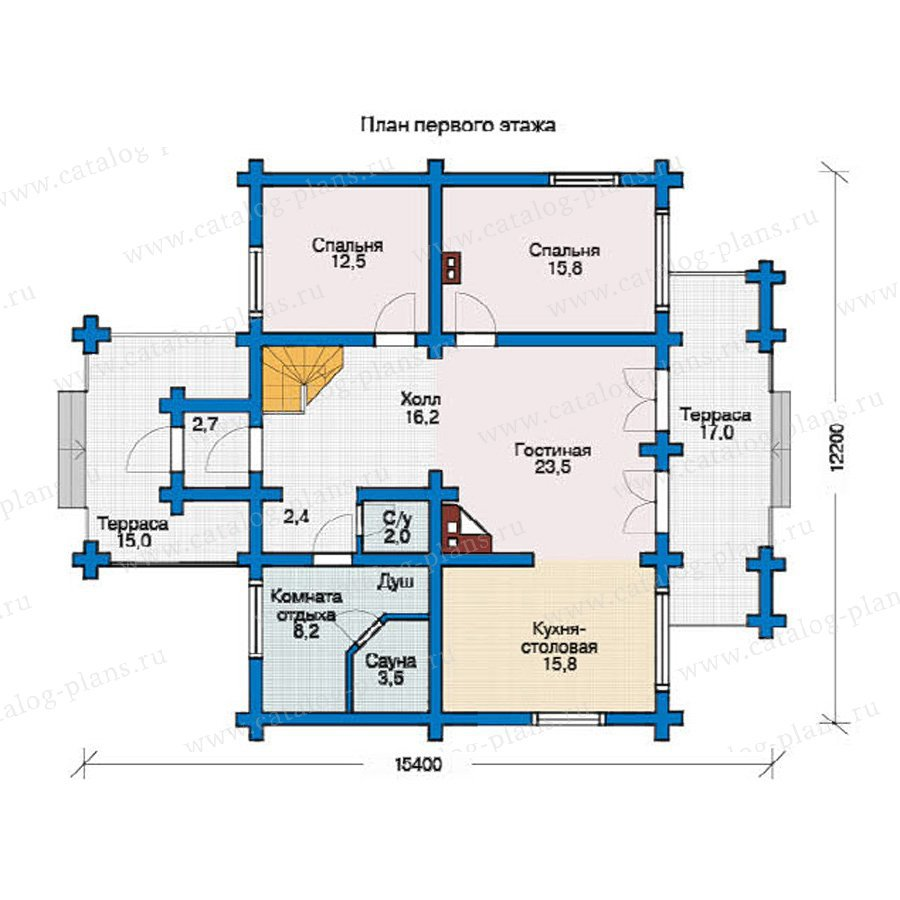 План 1-этажа проекта 10-09