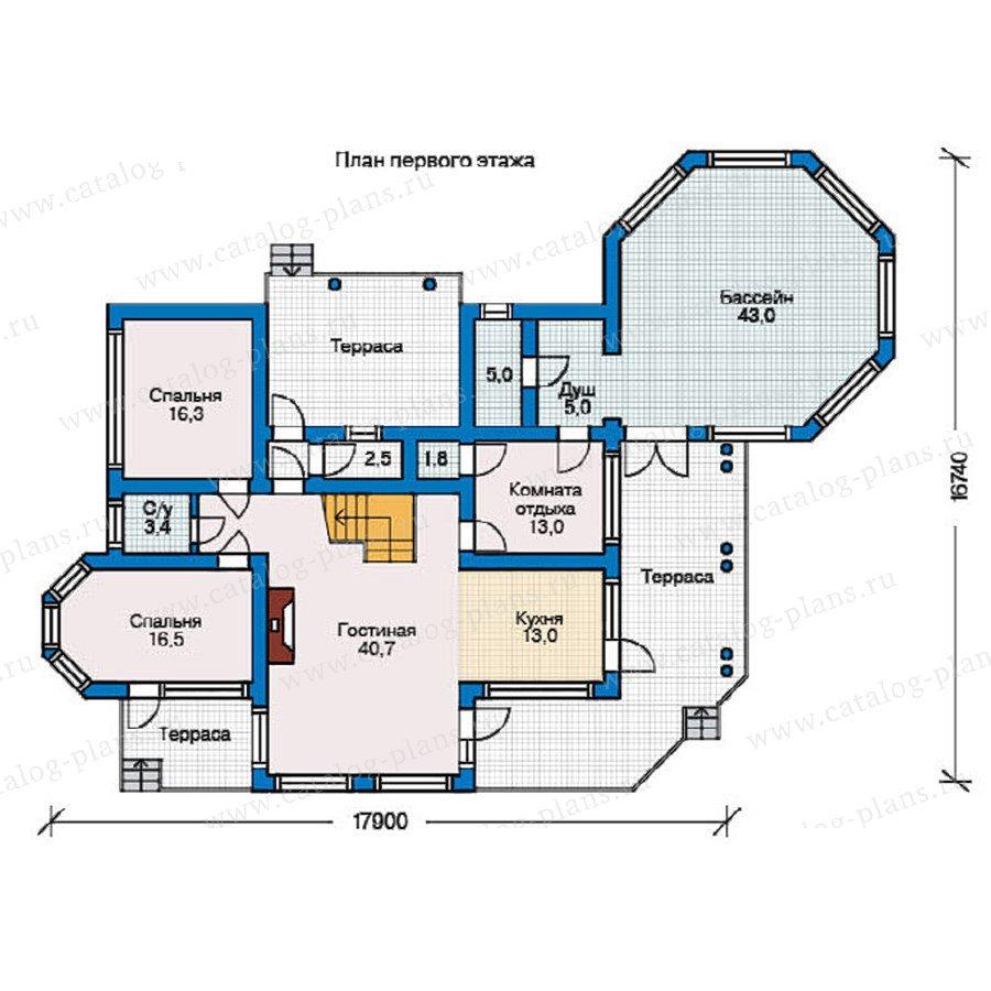 План 1-этажа проекта 10-08