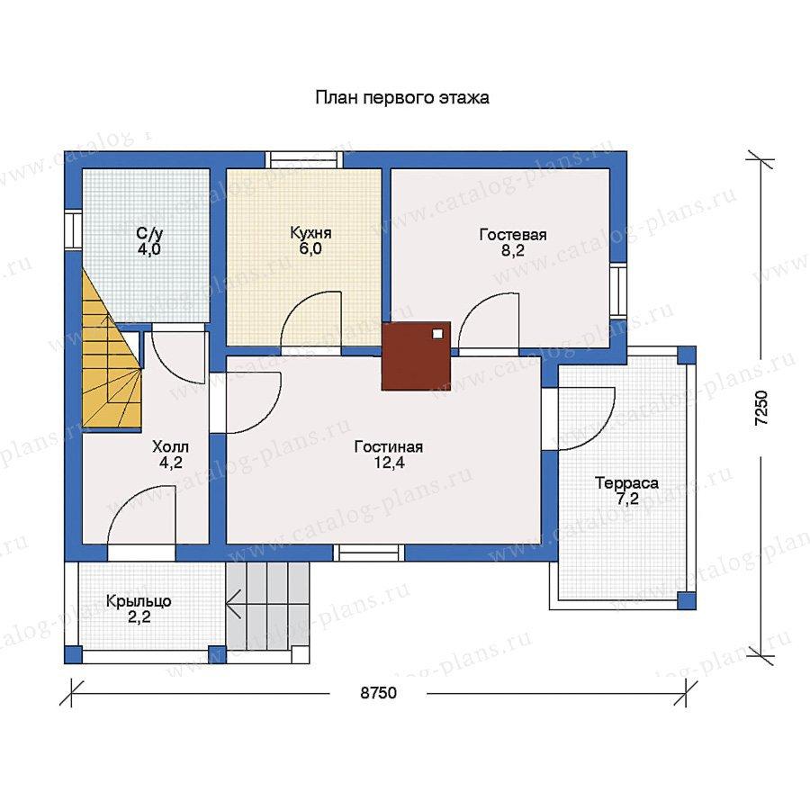План 1-этажа проекта 10-15