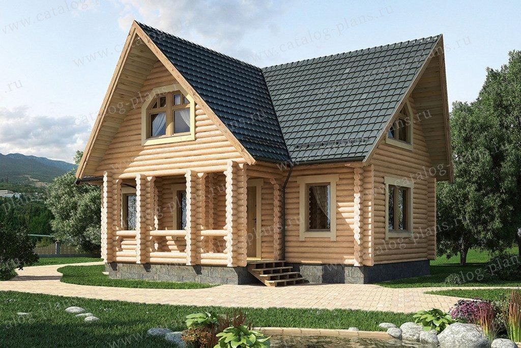 Проект жилой дом #10-22 материал - дерево, стиль скандинавский