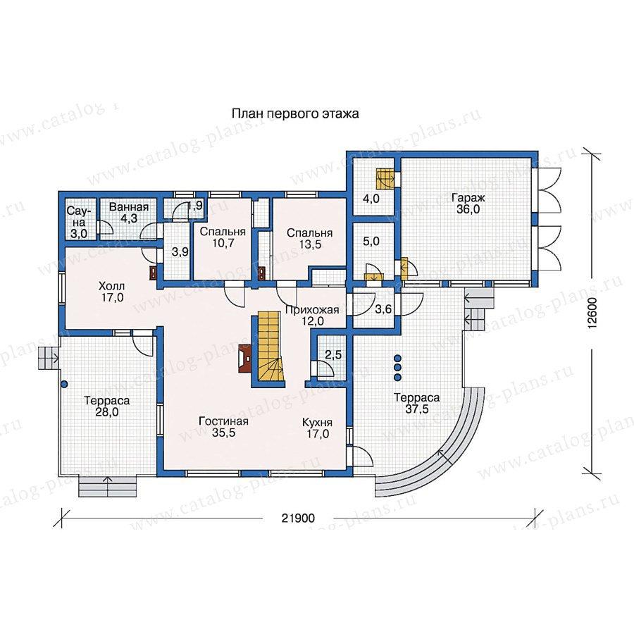 План 1-этажа проекта 10-10